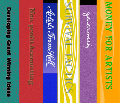 Book Covers for Confessions of an Arts Organizer, Karen Atkinson