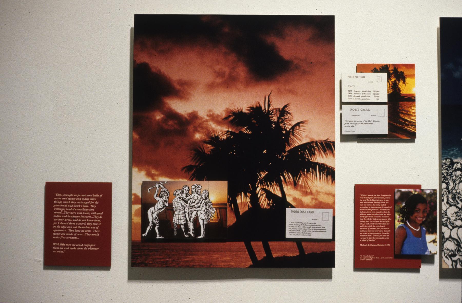 Postcards From Paradise, Karen Atkinson, Left Side Detail