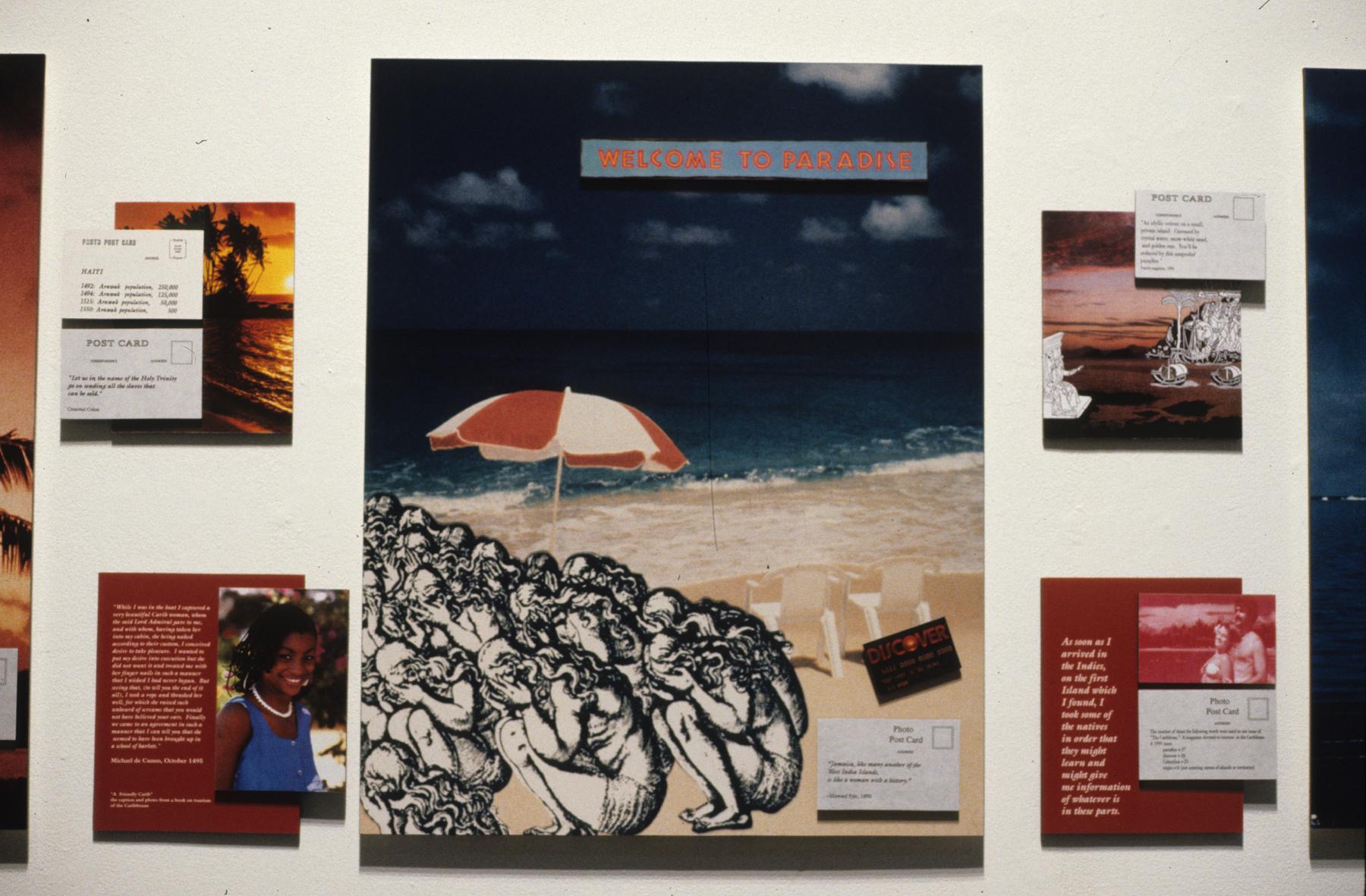 Postcards From Paradise, Karen Atkinson, Center Detail