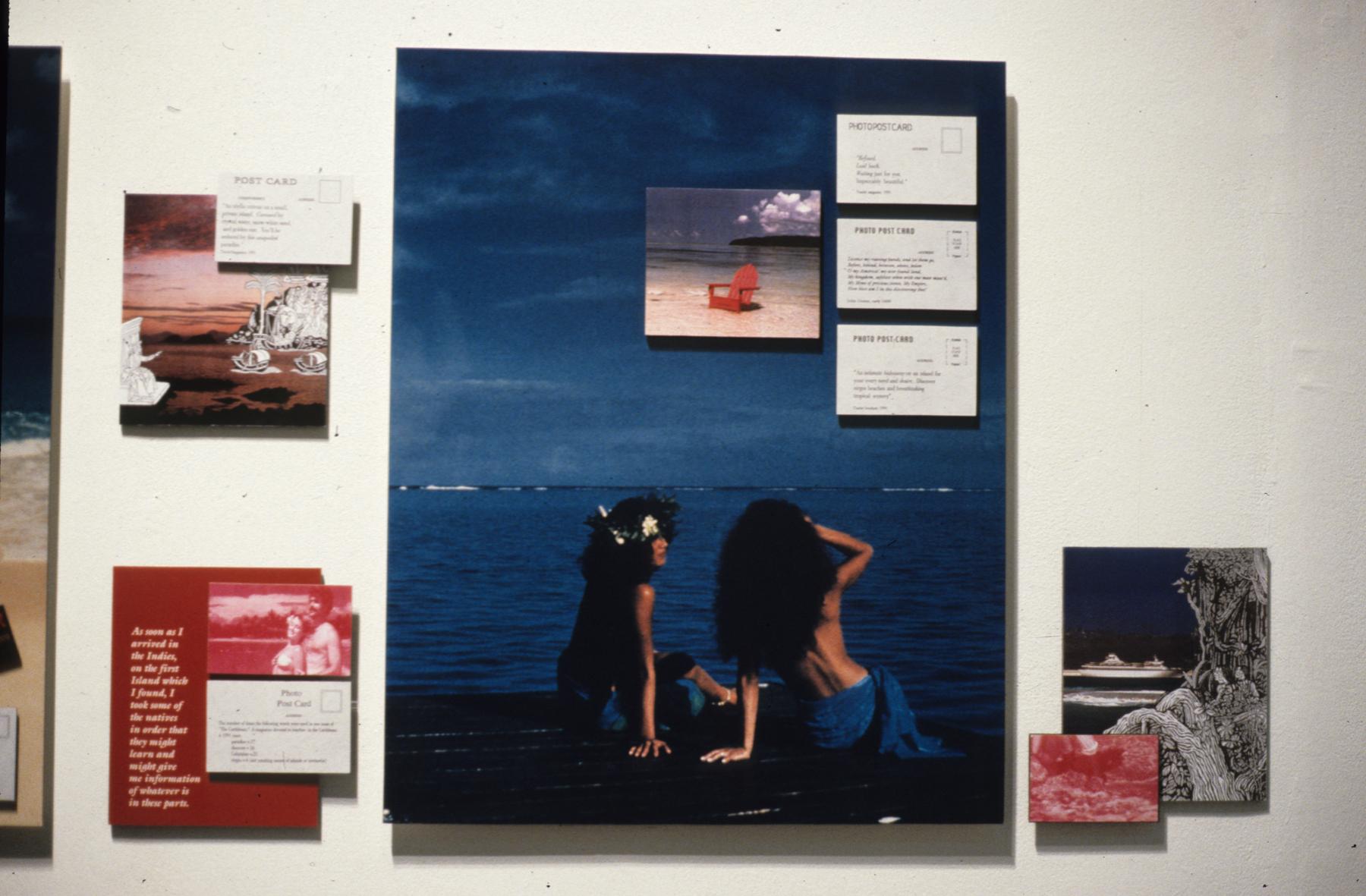 Postcards From Paradise, Karen Atkinson, Right Detail