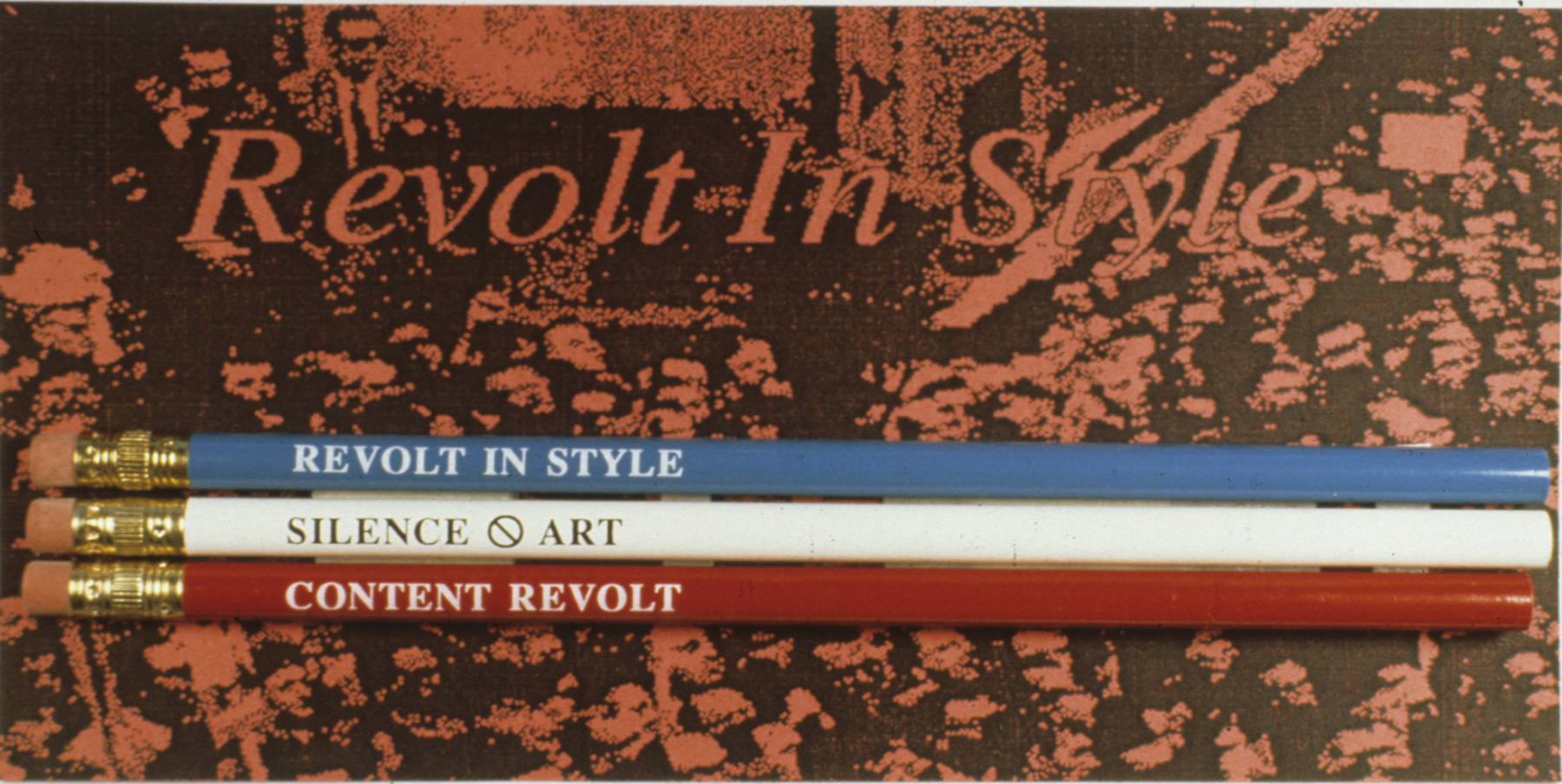 Revolt in Style Detail (Viewers could take pencil packages)