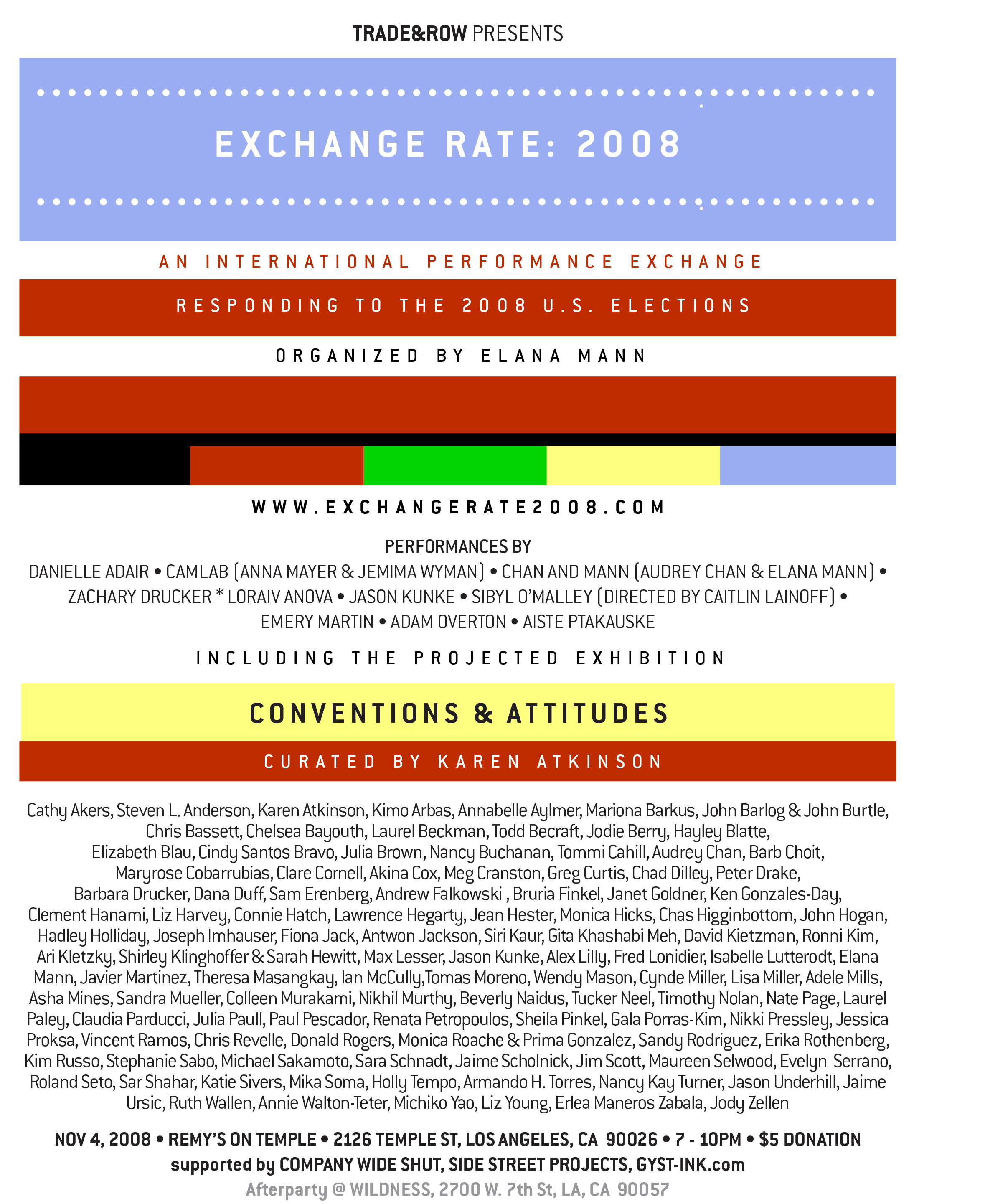 Exchange Rate/Conventions and Attitudes Flyer