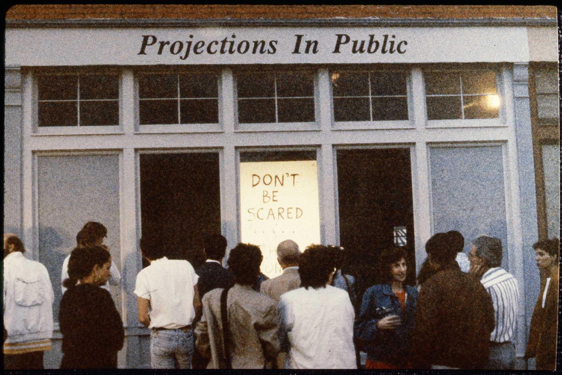 Projections in Public: Cleveland, curated by Karen Atkinson, image by Beverly Naidus