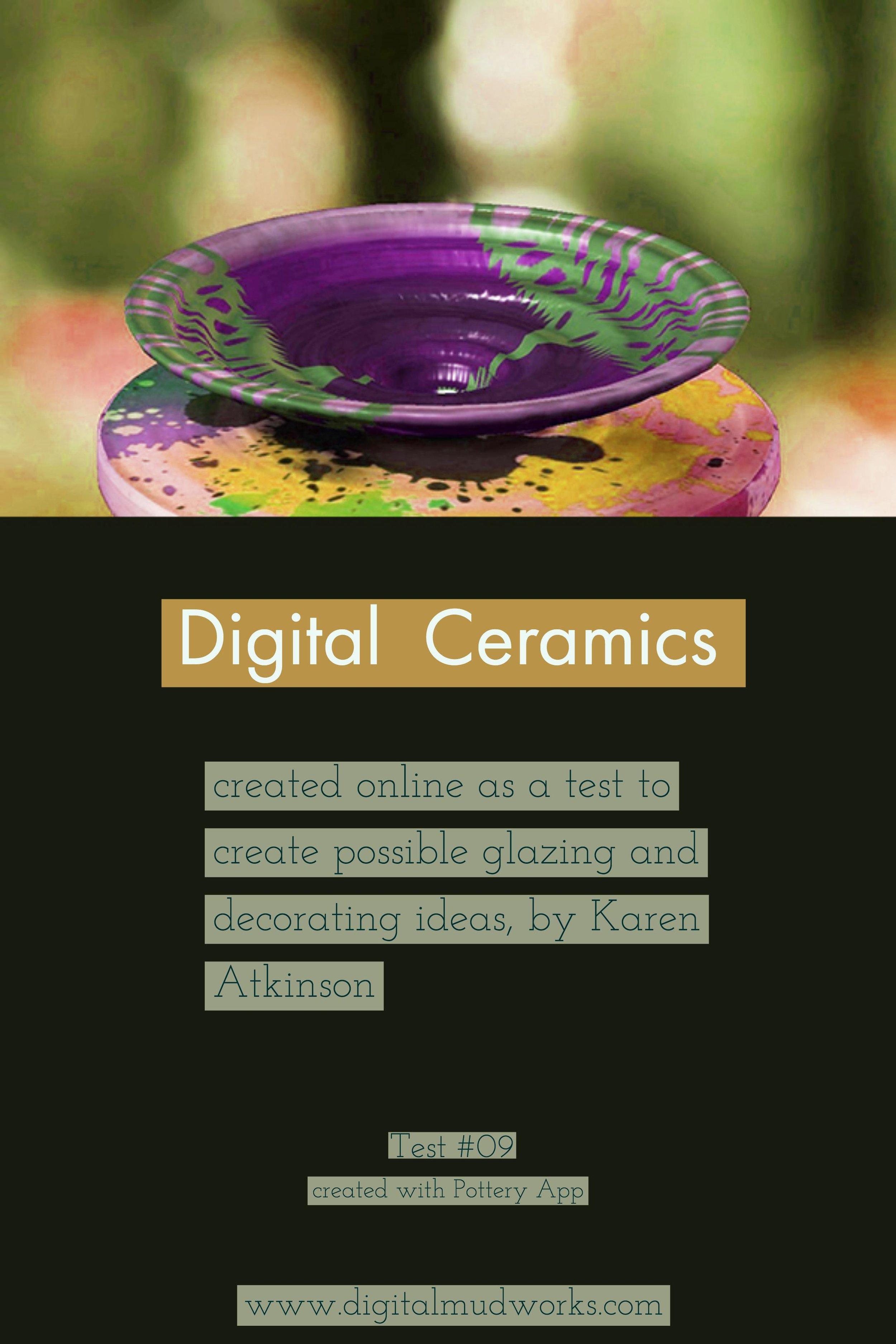 Digital Ceramics Test 09, using a computer app to do glaze and design tests. by Karen Atkinson