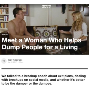 BetterBreakups.com - Image of the Vice Article. A man and women sitting on a couch breaking up.