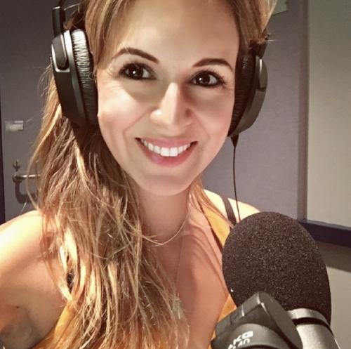 Selfie of myself in the recording studio.