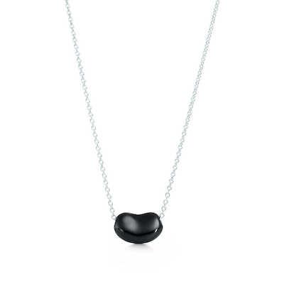 Tiffany's Bean necklace in black jade