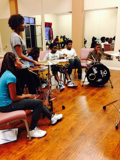Music Class with Drum and Percussion taught by Jerohn Garnett