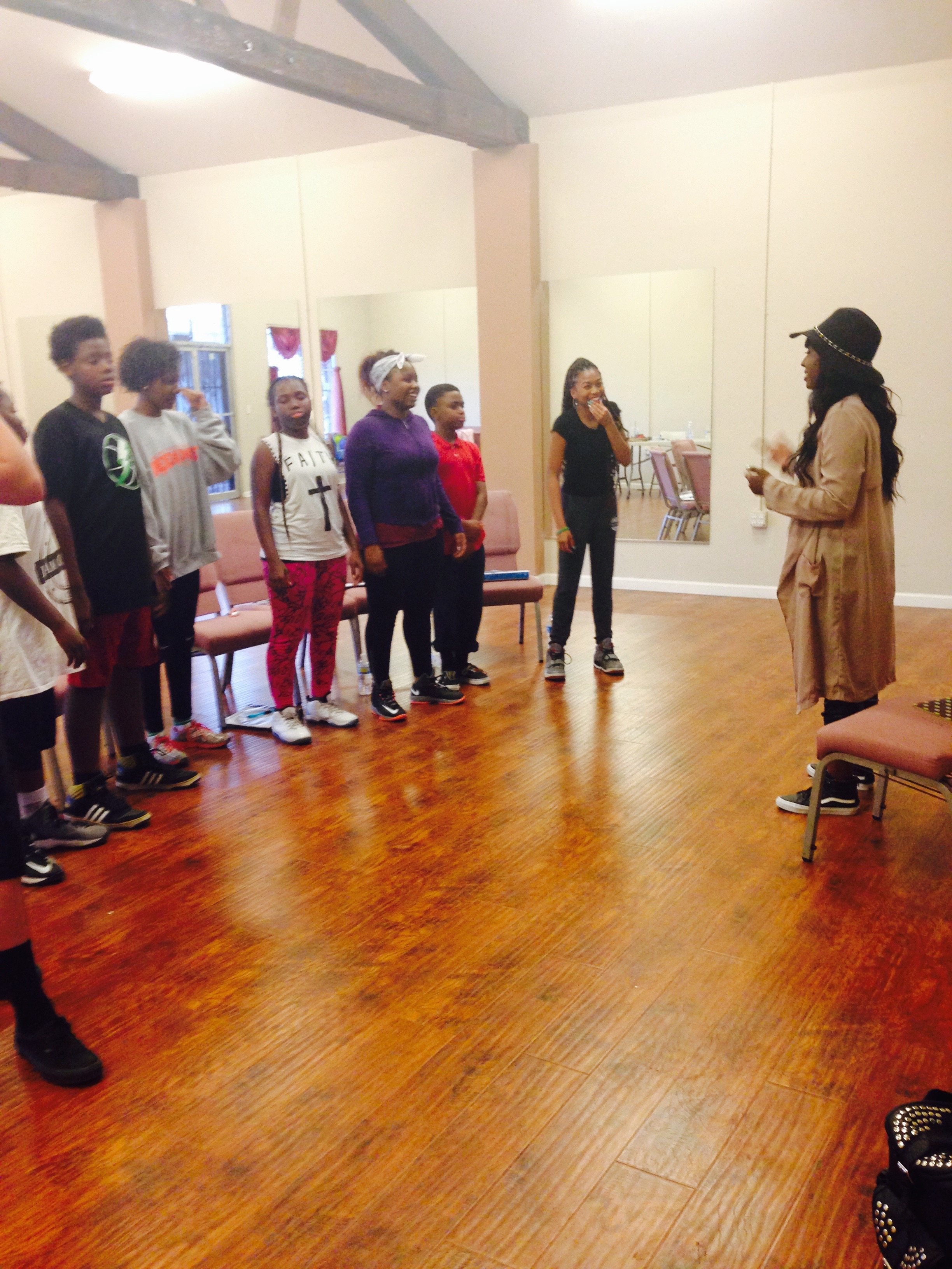 Vocal class taught by Ashly Williams
