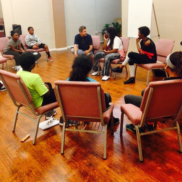 Acting class with Carlo Imperato
