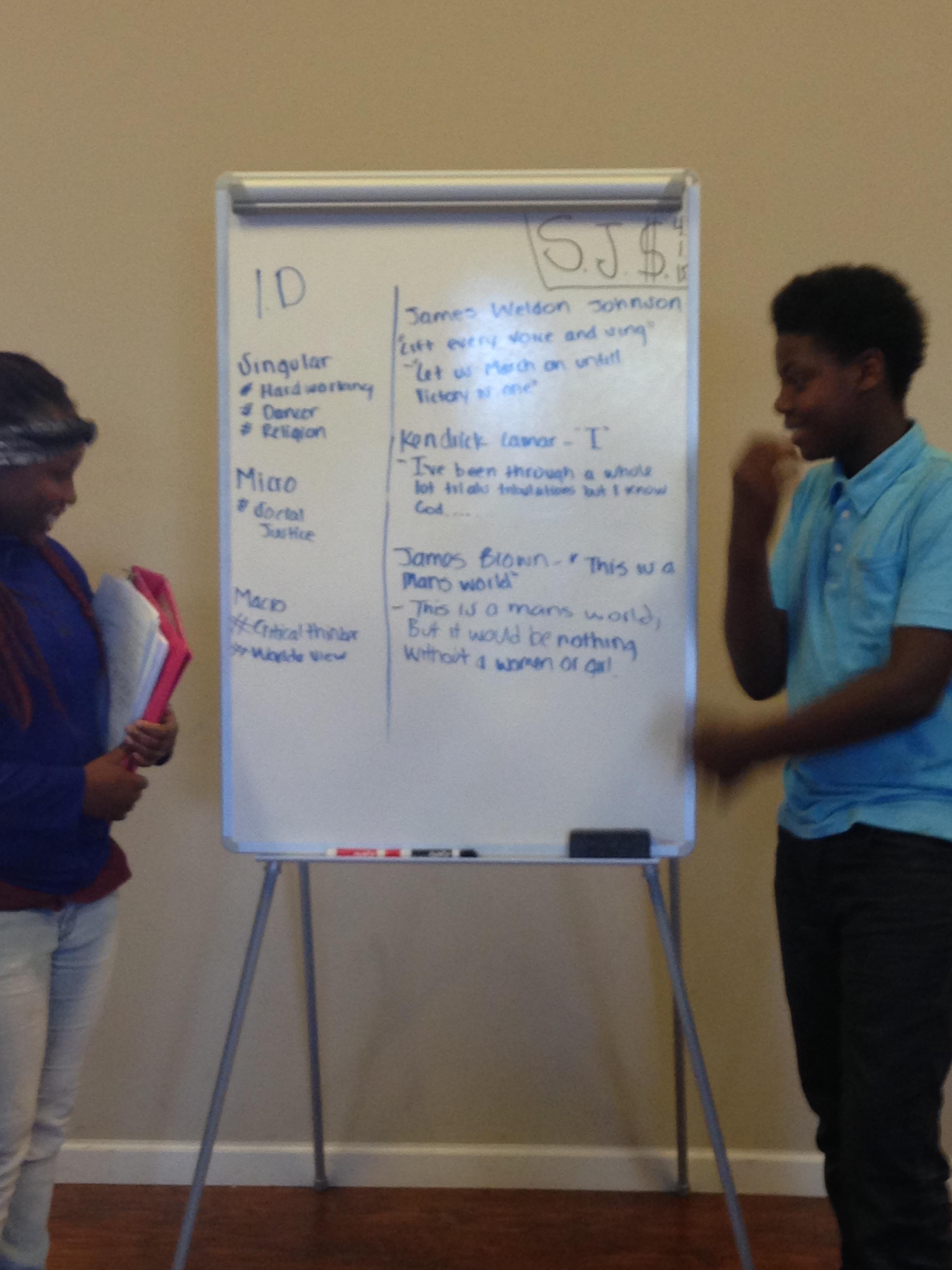 Presentations in the Social Justice Seminar Class