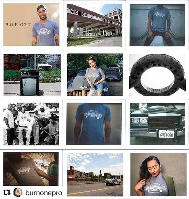 """THANK YOU for your constant support!! #DiscoverYOU #DreamHard #BurnOneProductions  #Repost @burnonepro ・・・ Brought back our BurnOneProductions.com/store just in time for summer. Our """"BOP OG Tee design is inspired by the Motor City aka #Detroit . 10% of our sales go to @discoveryoucpt & another 10% goes to #HelpForFlint ..thanks to all the real OGs of BOP that modeled for me 👊 #Director #Fashion #Polaroid #Film #Filmmaker"""