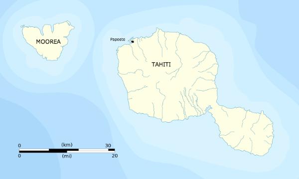 Source: Flappiefh. Tahiti and Moorea administrative map. Wikimedia Commons.