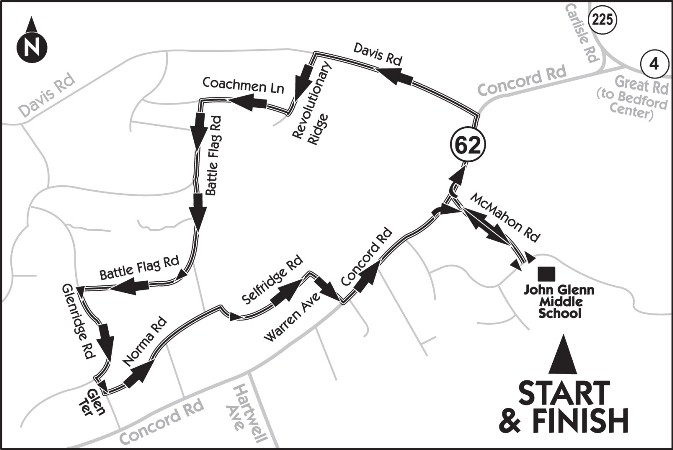 Our course is not USATF sanctioned, but has been plotted by the Town of Bedford GIS as 5 km.