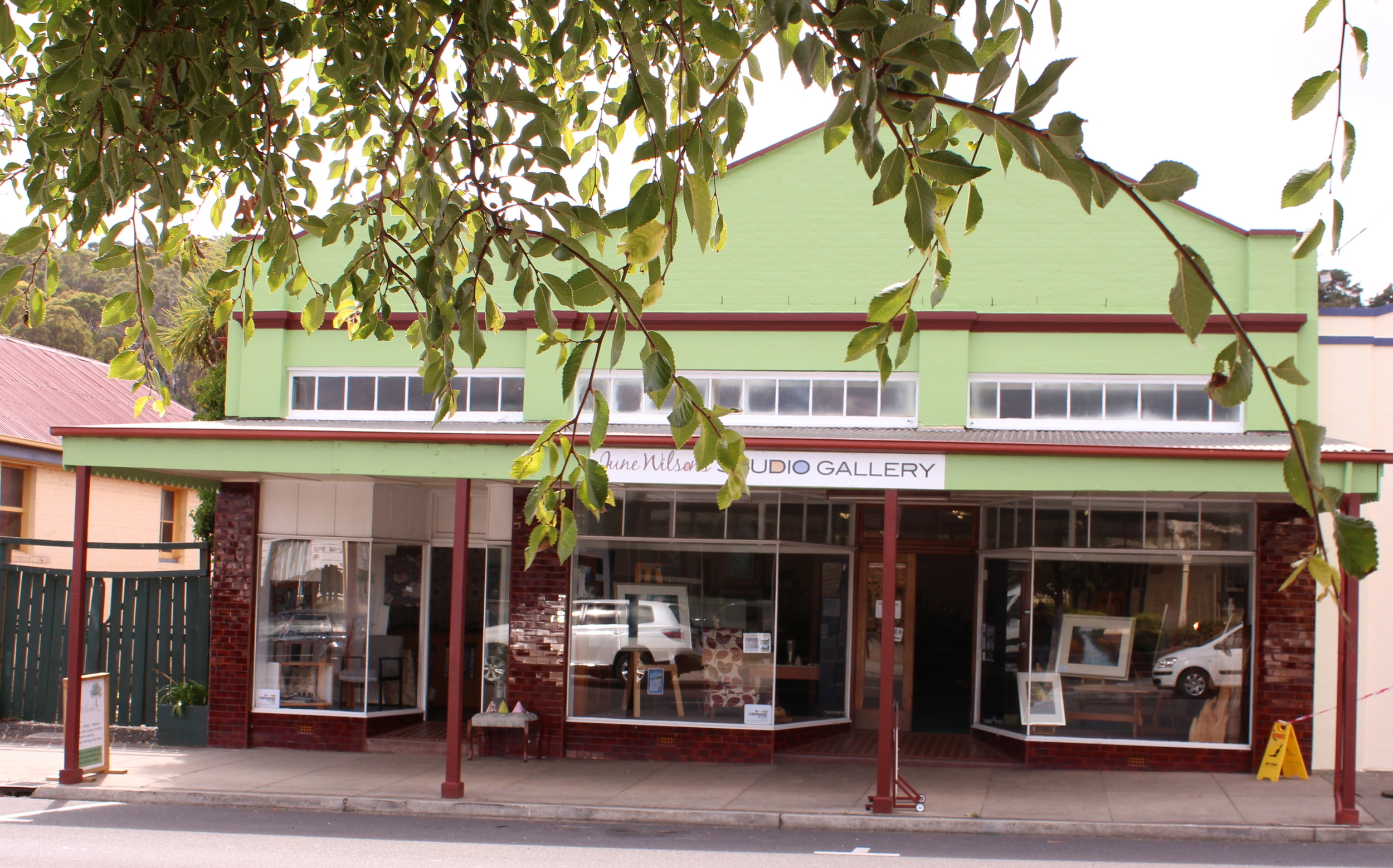 June's Studio Gallery is a part of the Crowded Lounge in Gilbert Street Latrobe.
