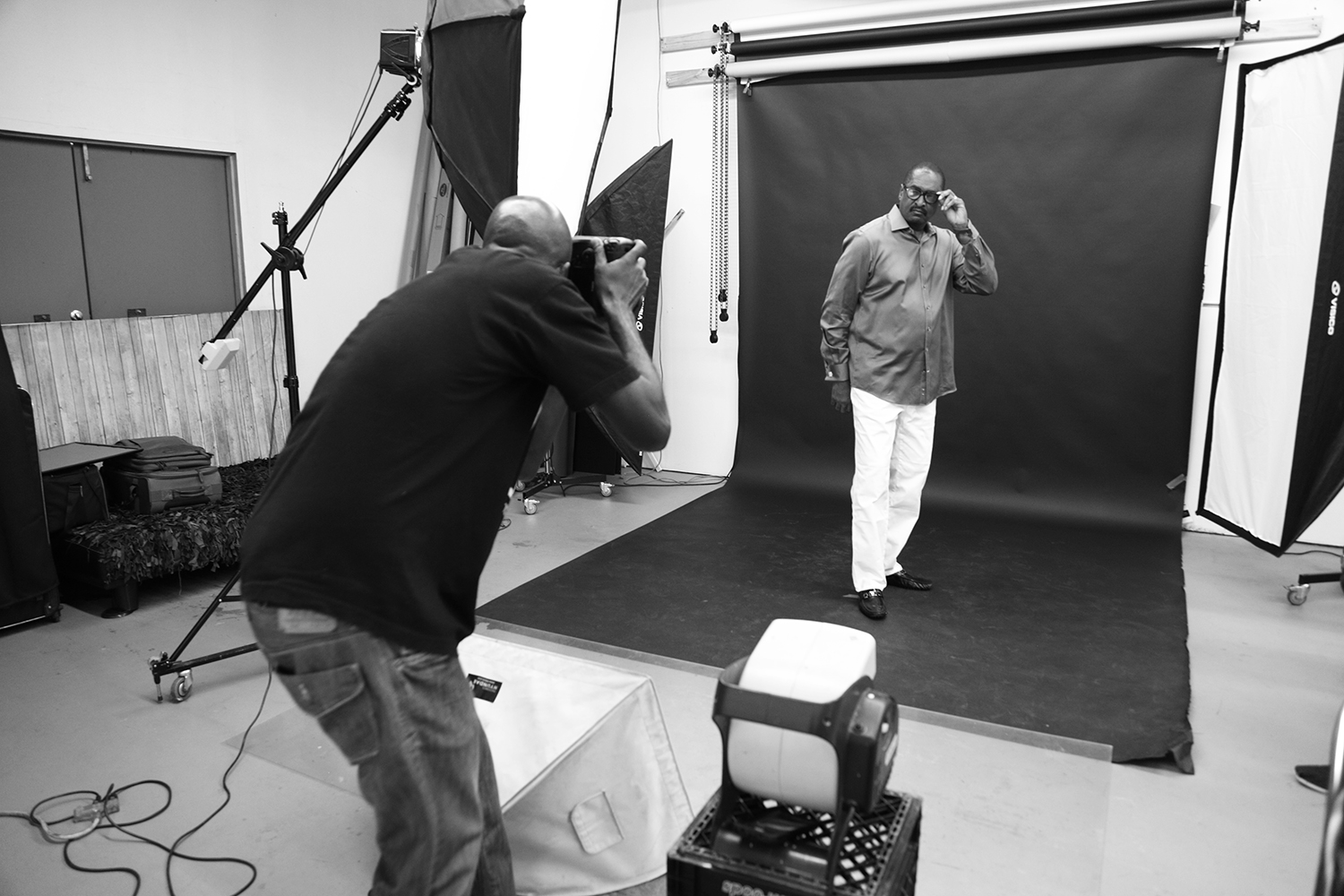 music mogul mathew knowles photographed at the creative space in houston tx
