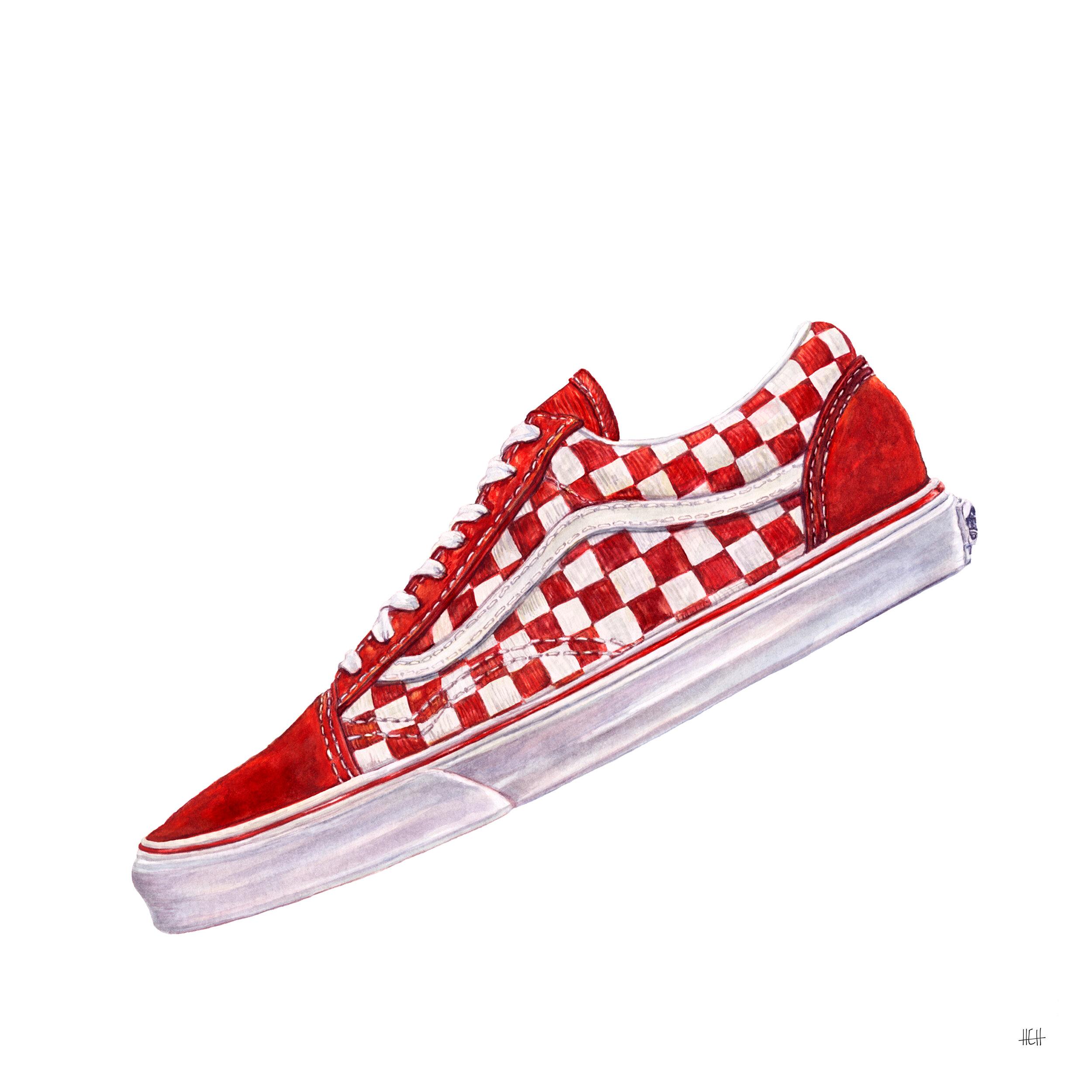 Red White Check Vans — HEH