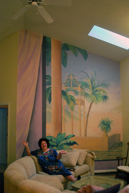 My client with the mural