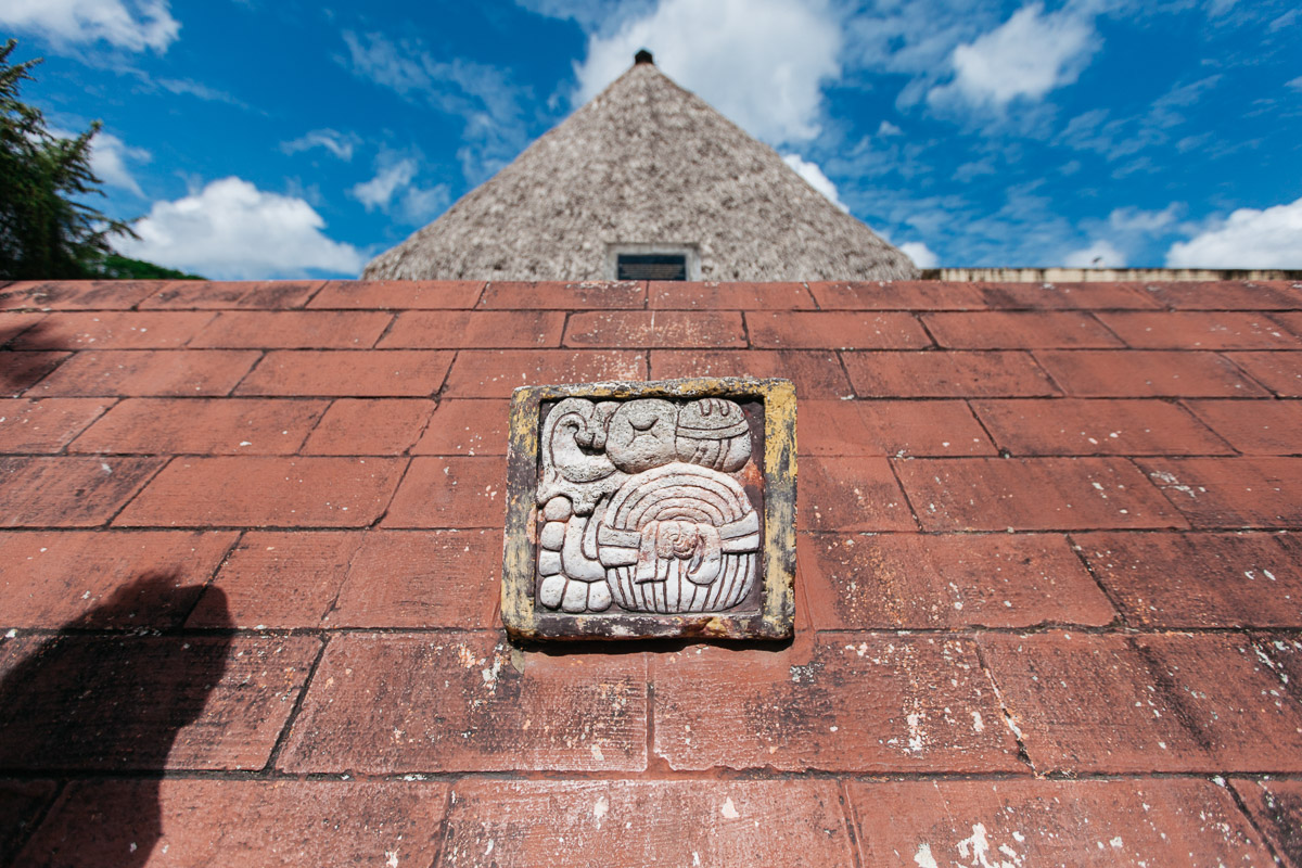 Upon entering, the first thing you see is this emblem - they call it the Mutal. We learned that the big Mayan cities had their own emblem, and the people of Tikal took a lot of pride in theirs. Branding since before christ, awesome!