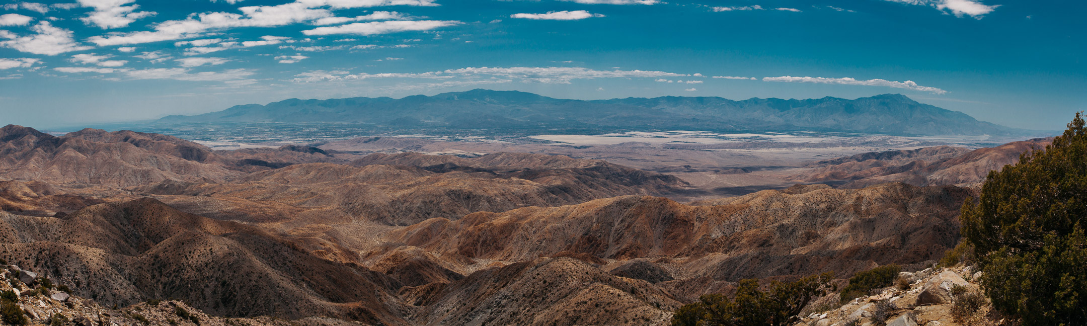 A panoramic taken from Keys View atop Joshua Tree National Park