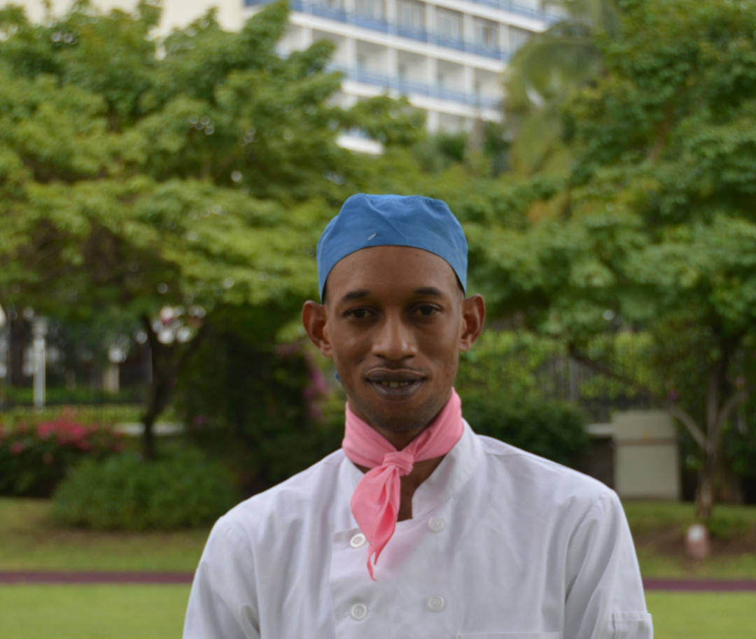 Leroy: Our former YAC member who is now a commis chef at the Jamaica Pegasus Hotel!