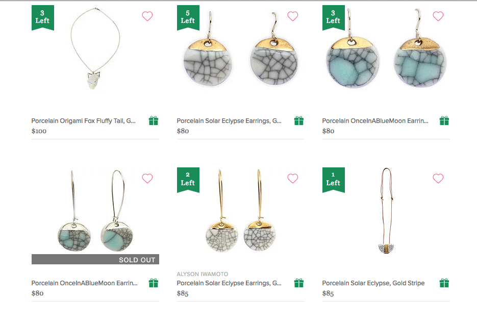 My Porcelain Origami and Lunar Ecylpse lines are featured in the One Kings Lane Holiday Gift Guide