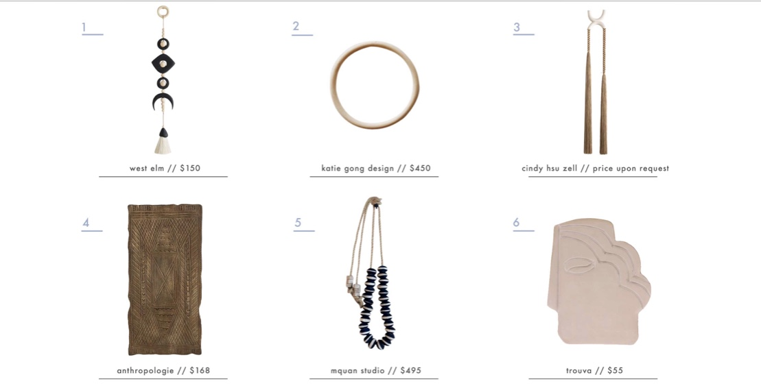 My collaborative project with  Cindy Zell  on  Emily Hendersons  blog! Entitled The Best Wall Hangings for Every Style.