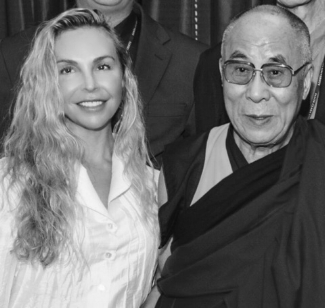 Dr Shauna Shapiro and the Dalai Lama
