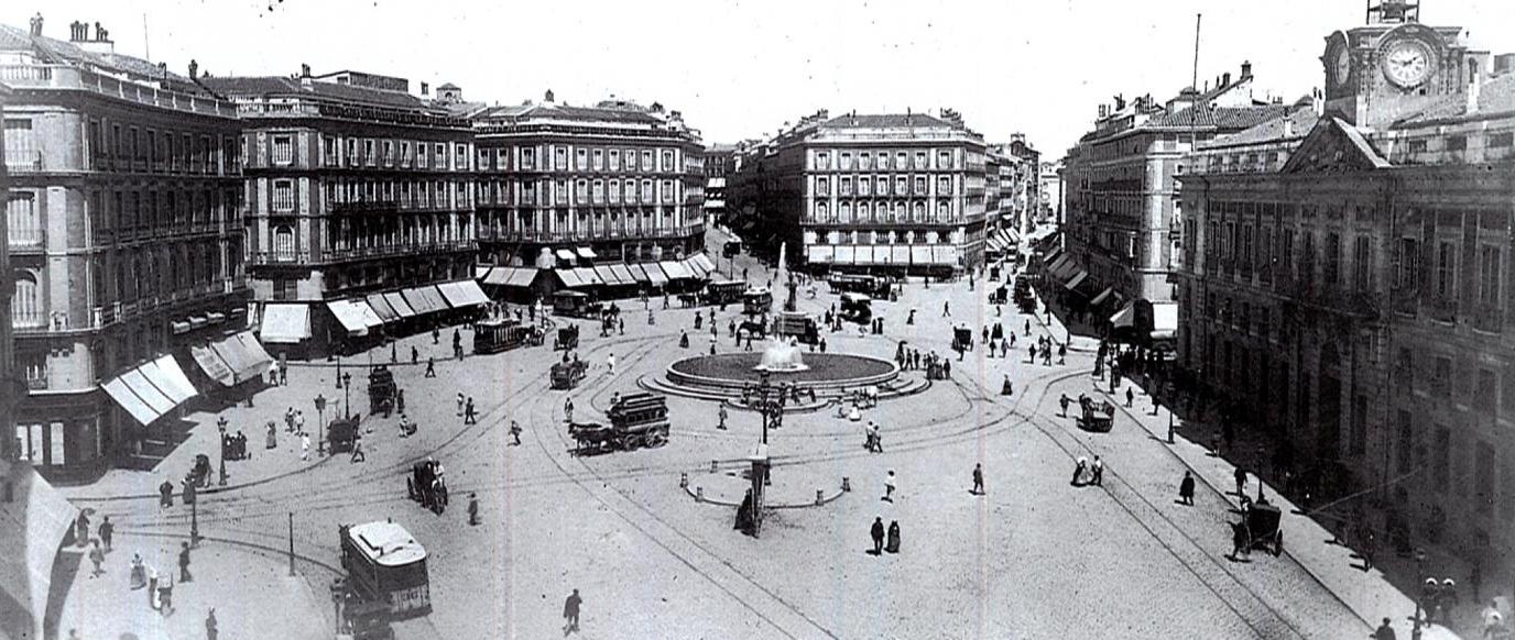 Puerta del Sol, década de los 80 del siglo XIX