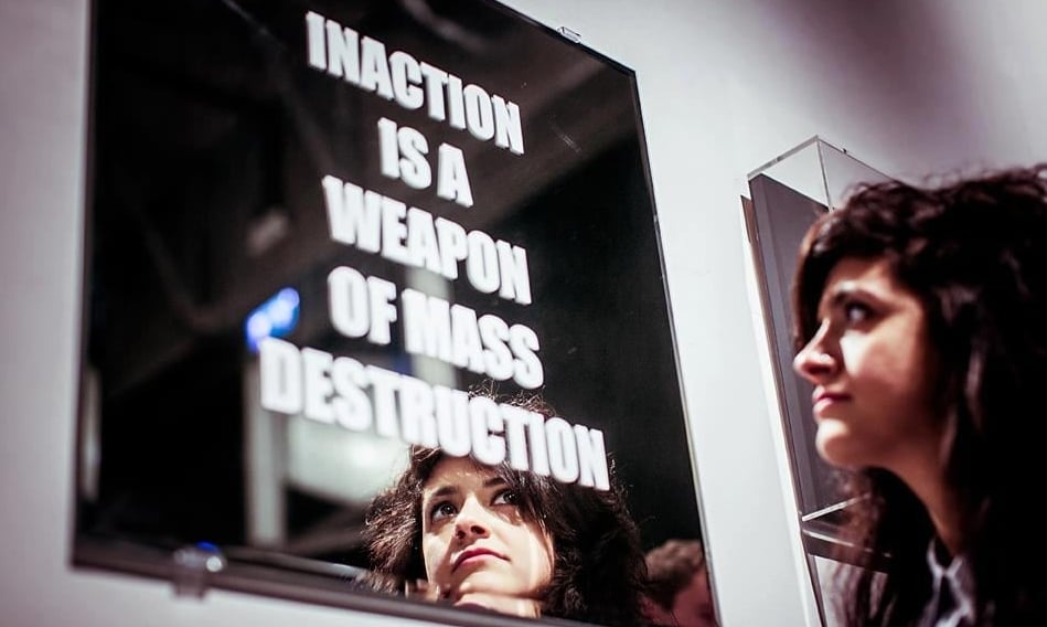 "Sarah Maple ""Inaction Is A Weapon of Mass Destruction"" (2010)"
