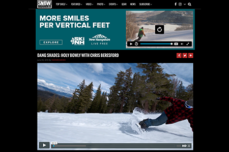 DANG SHADES FEATURED ON SNOWBOARDER.COM