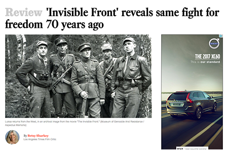 LA TIMES REVIEW OF THE INVISIBLE FRONT
