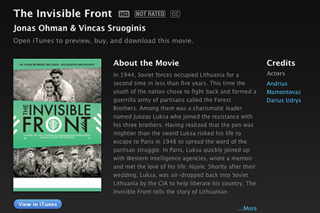 THE INVISIBLE FRONT ON ITUNES