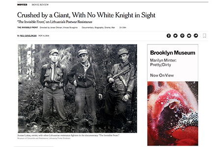 NY TIMES REVIEW OF THE INVISIBLE FRONT