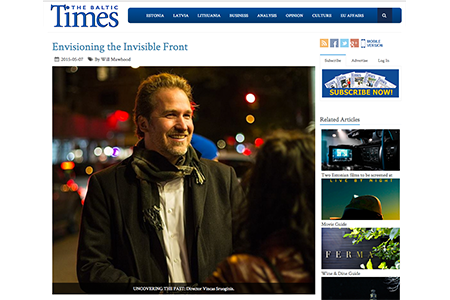 VINCAS FEATURED IN THE BALTIC TIMES