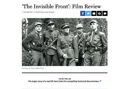 HOLLYWOOD REPORTER REVIEW OF THE INVISIBLE FRONT