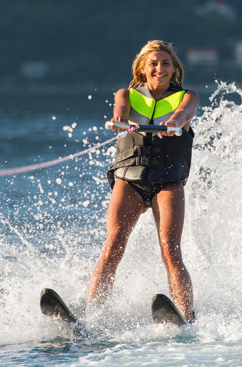 Woman water ski