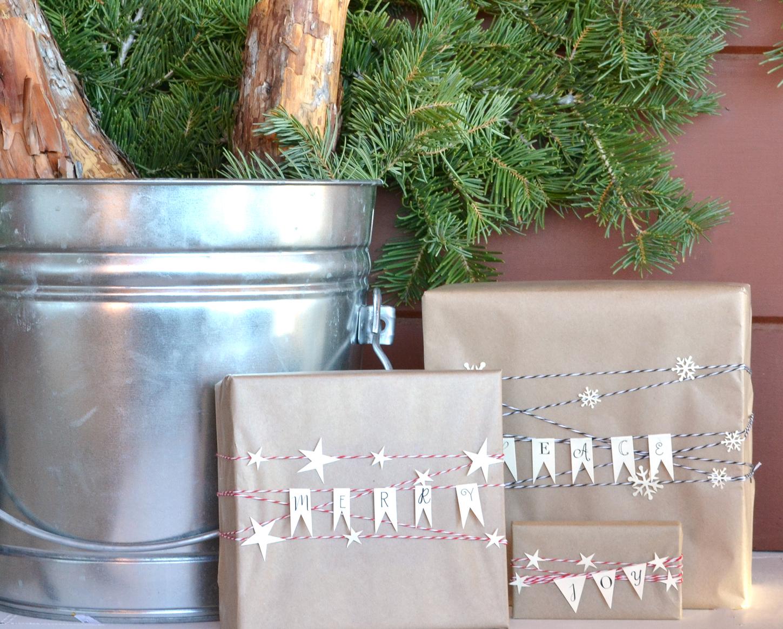 Boxwood Avenue | Gift Wrap & Christmas Packaging Bunting Printable