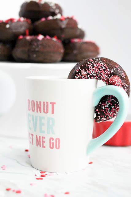 Boxwood Avenue lovesQuirks + Twists | Chocolate Doughnuts with Strawberry Champagne Glaze
