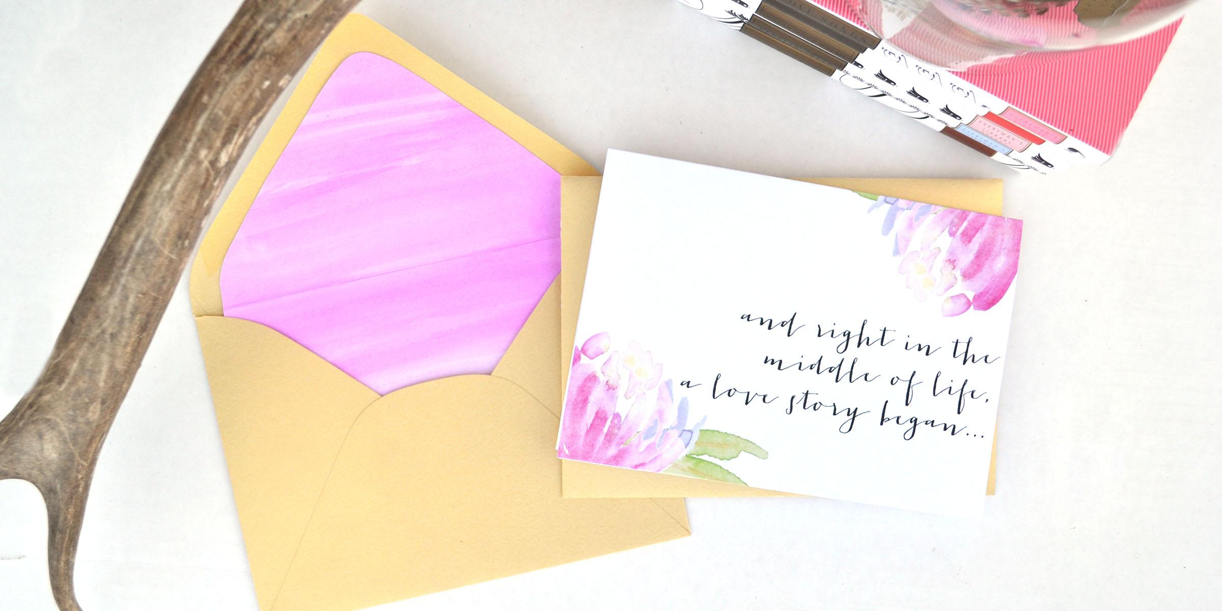DIY Valentine Envelope Liner and Card | Boxwood Avenue