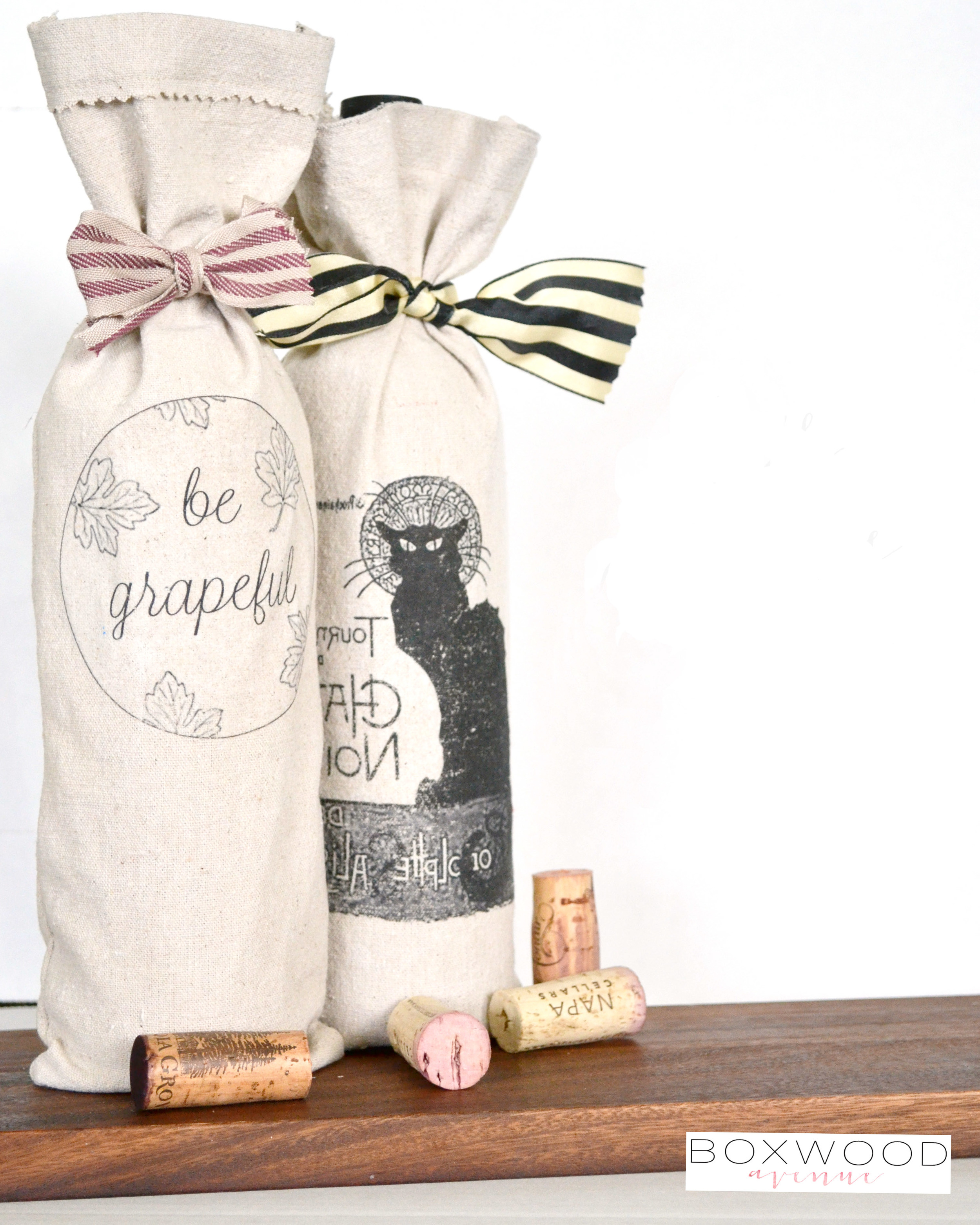Boxwood Avenue: DIY Fall Hostess Wine Bag