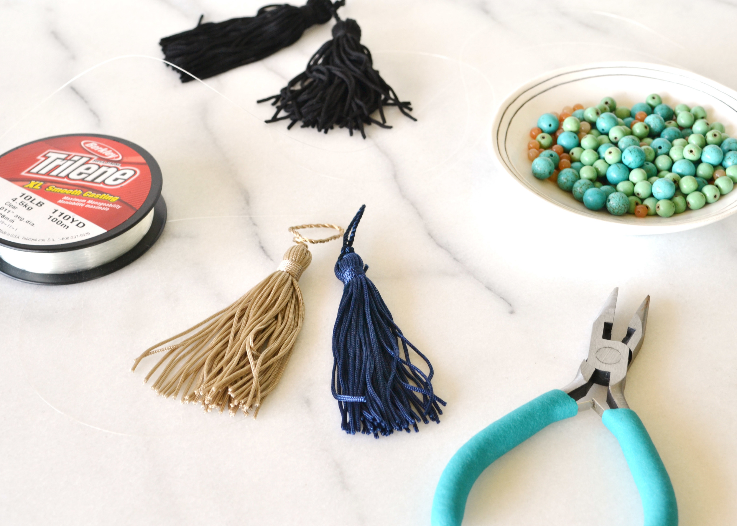 DIY Beaded Tassel Necklace | Boxwood Avenue