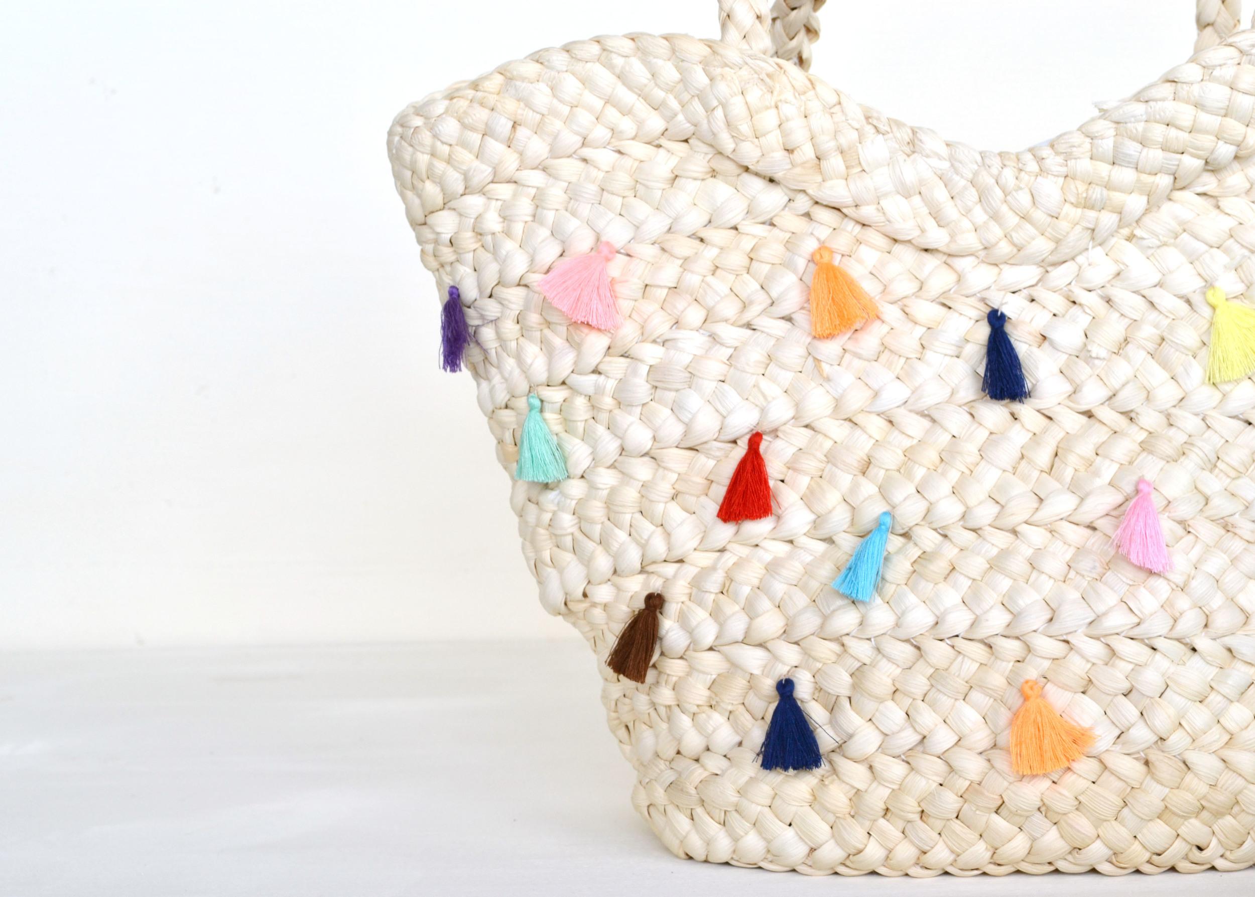 DIY Tassel Straw Tote | Boxwood Avenue