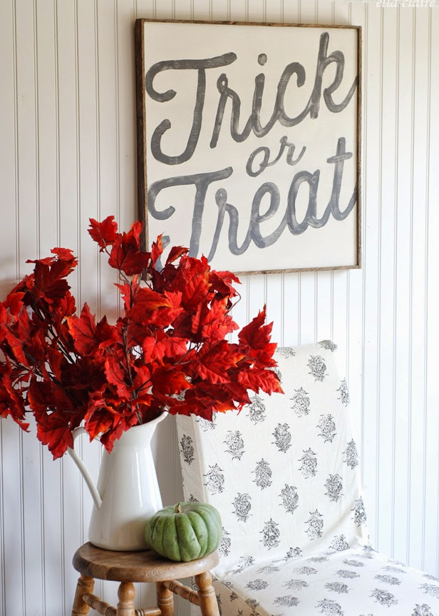 Trick or Treat wood Sign | Ella Claire Inspired