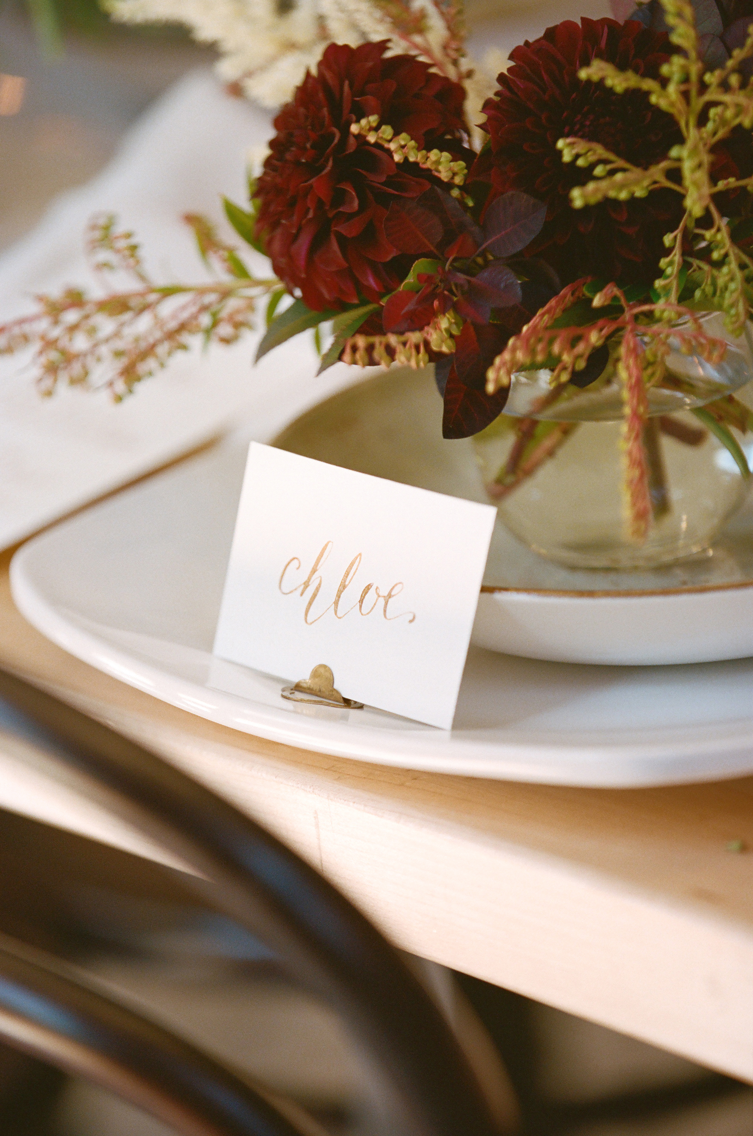 An awesome DIY for weddings - a complete calligraphy tablescape! {From Melina Wallish Photography, Dax Victorino Films, and BoxwoodAvenue.com}