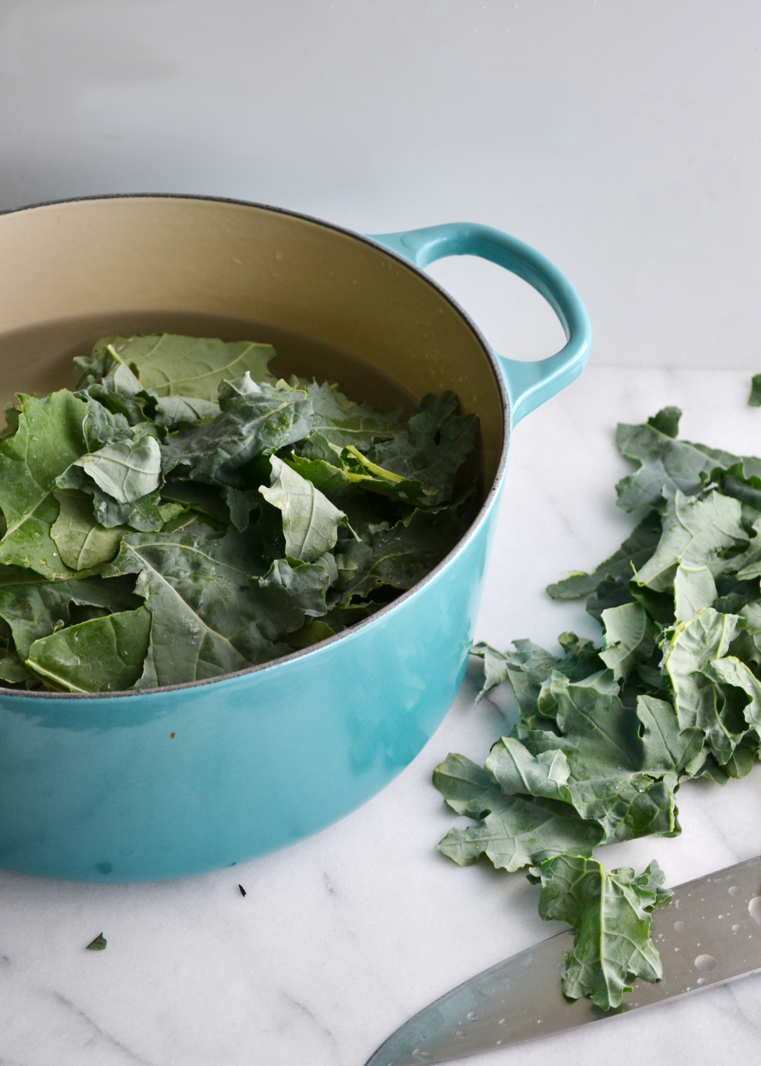How to preserve kale (and other leafy greens), perfect for winter soups! From boxwoodavenue.com