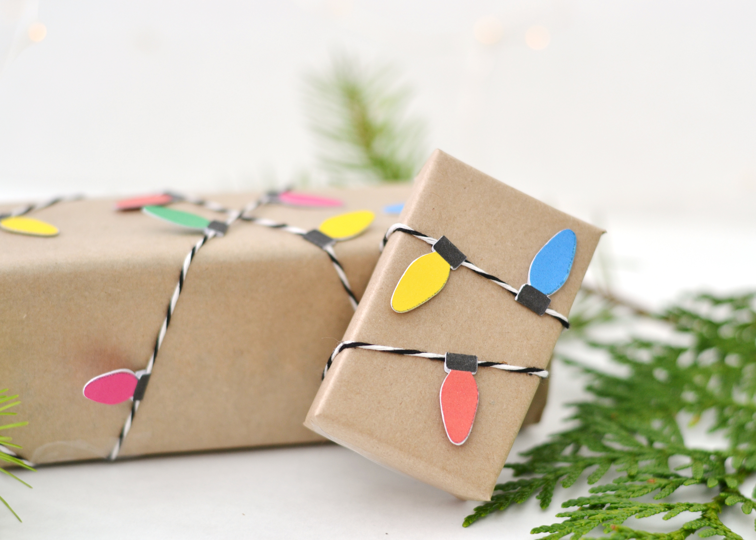 Super unique wrapping paper idea using kraft paper and the Cricut. From BoxwoodAvenue.com