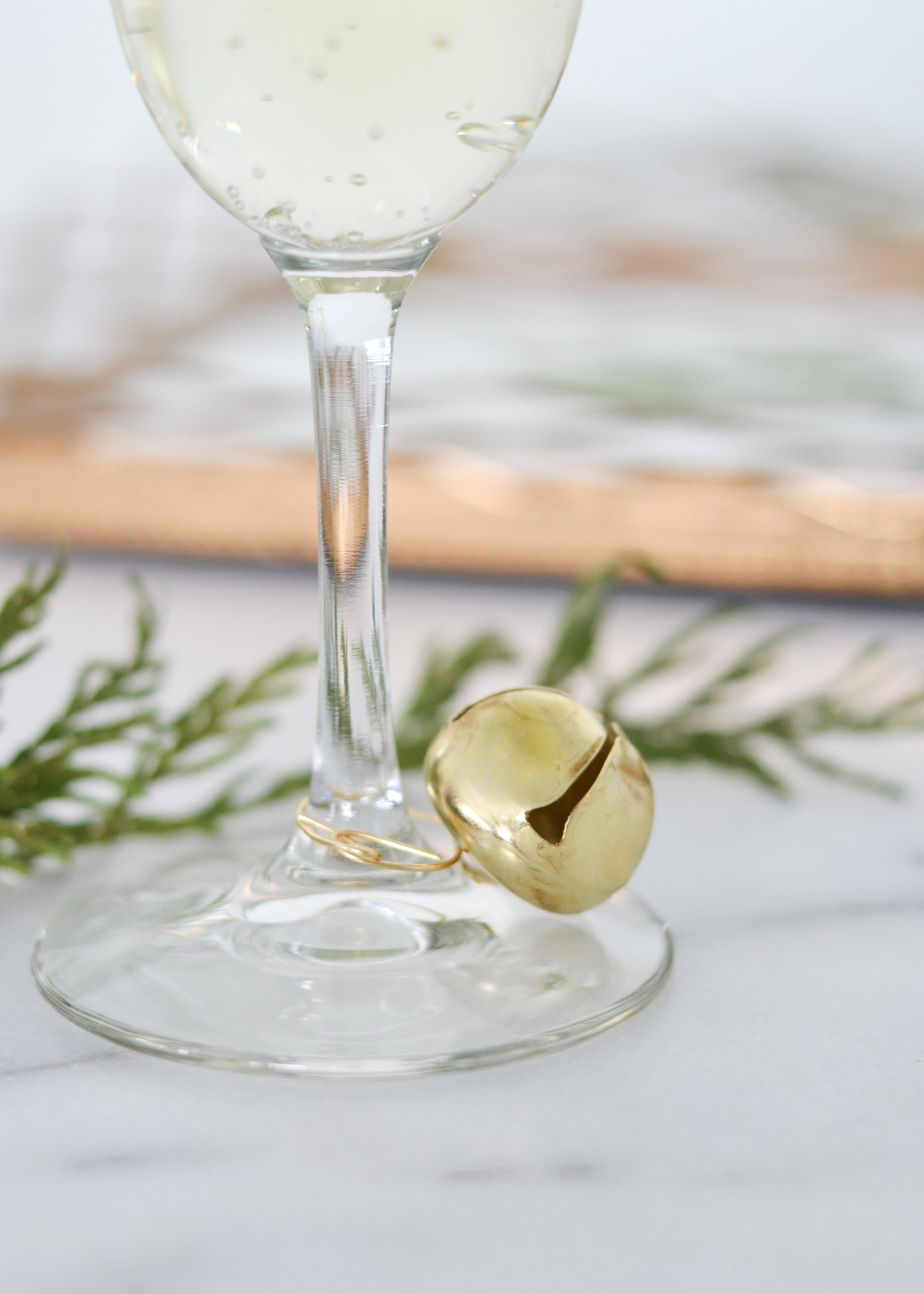 Fun jingle bell wine charms from boxwoodavenue.com