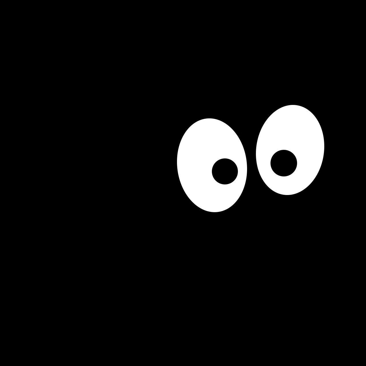 Dark eyeballs cartoon