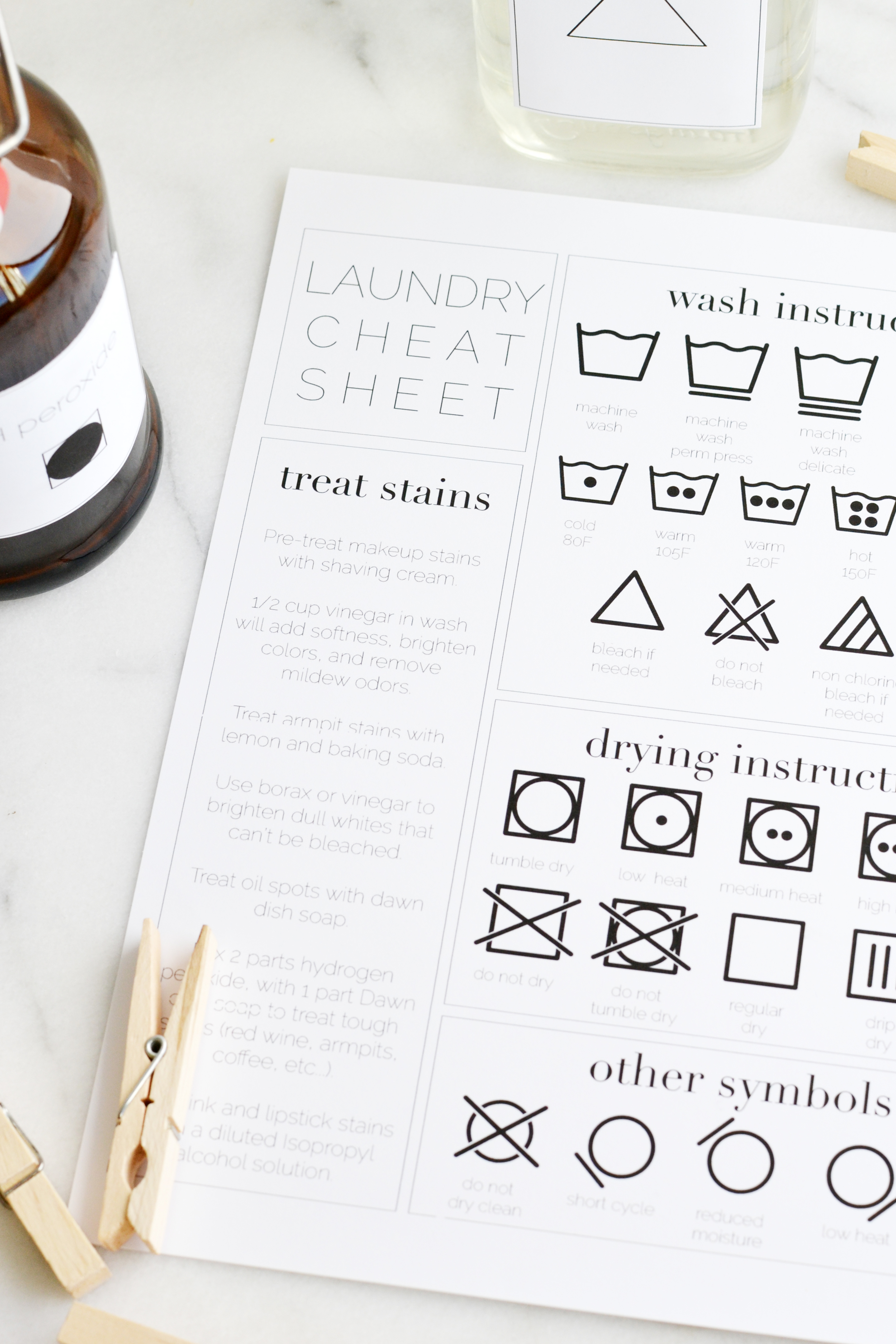 Laundry room organization tips & a free label printables from boxwoodavenue.com